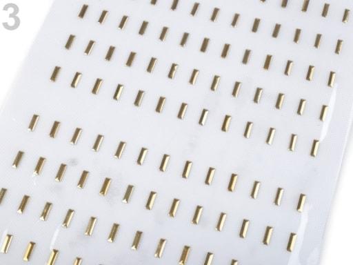 Stoklasa Kovový hot-fix na přenášecí fólii 3x10 mm - 3 zlatá