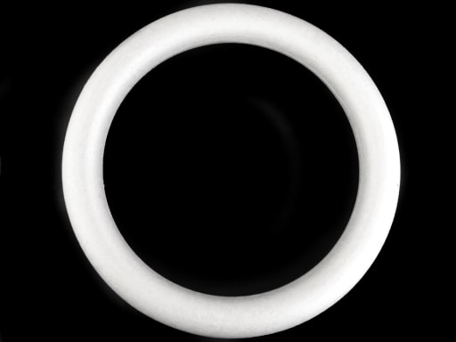 Stoklasa Věnec polystyren Ø39 cm - bílá