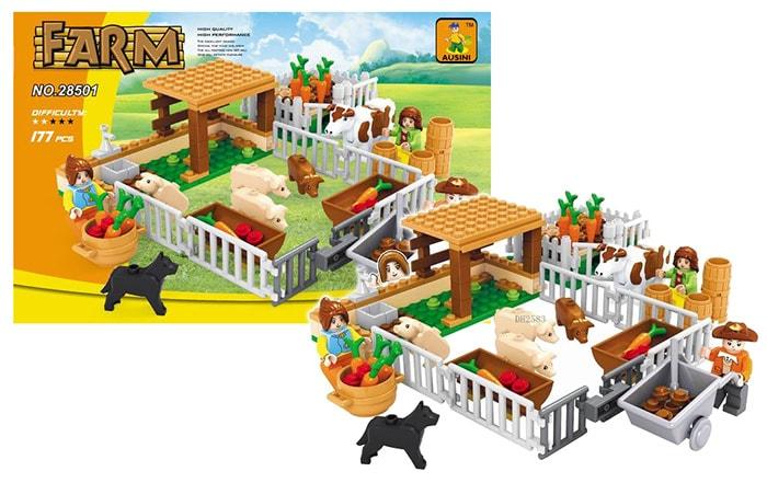 Rappa Stavebnice farma ohrada, 177 dílů