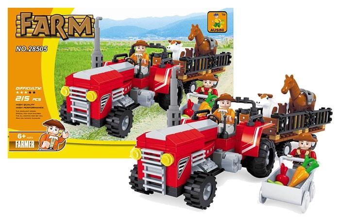 Rappa Stavebnice farma traktor velký, 215 dílů
