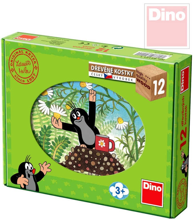 Dino Kostky dětské set 12ks Krtek (Krteček) a přátelé - dle obrázku