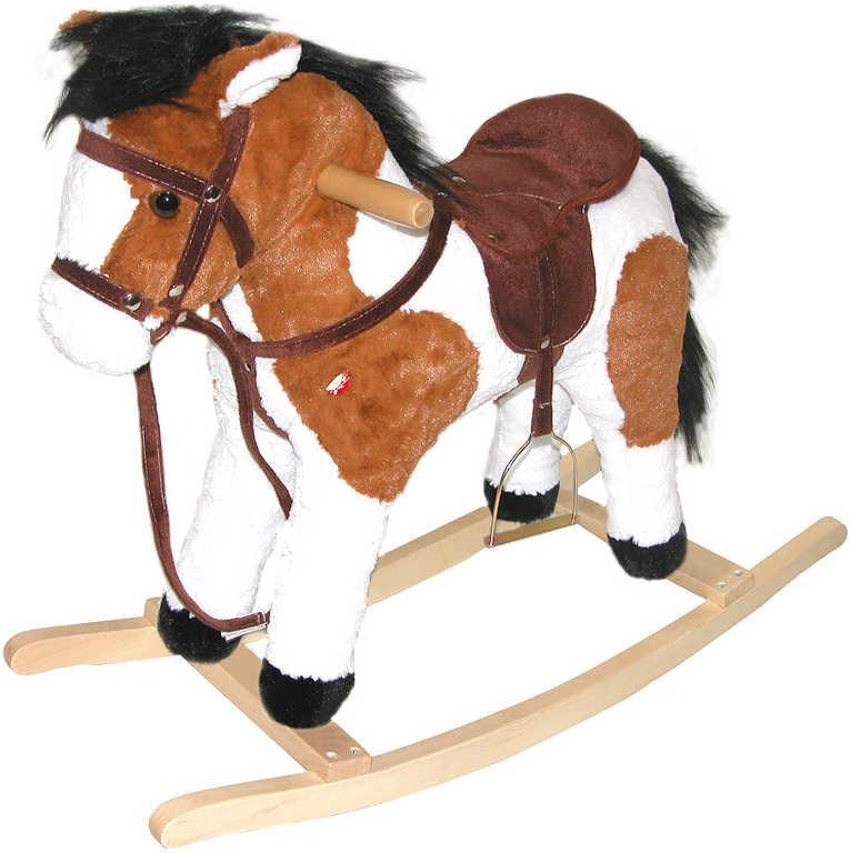 _Ostatní 1_ Kůň (koník) houpací plyšový na baterie se zvukem