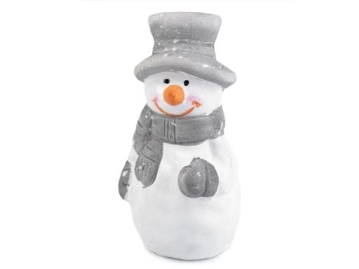 Stoklasa Dekorace sněhulák v dárkové tašce - bílá