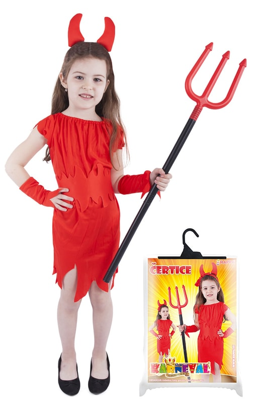 Rappa Karnevalový kostým čertice červená, vel. S