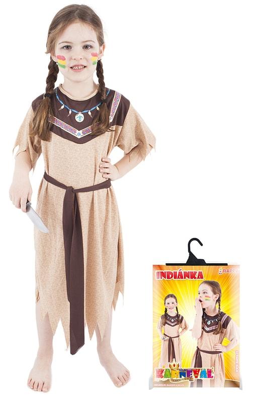 Rappa Kostým pro děti indiánka, vel. S