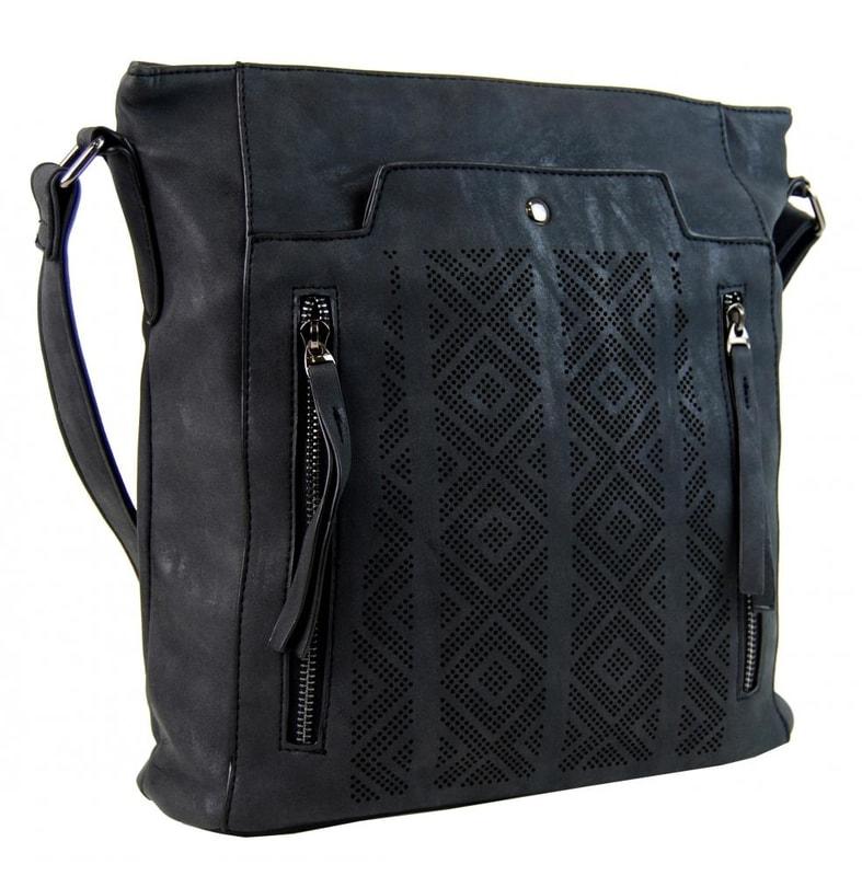 Tapple Dámská broušená crossbody kabelka 16028 černá - dle obrázku