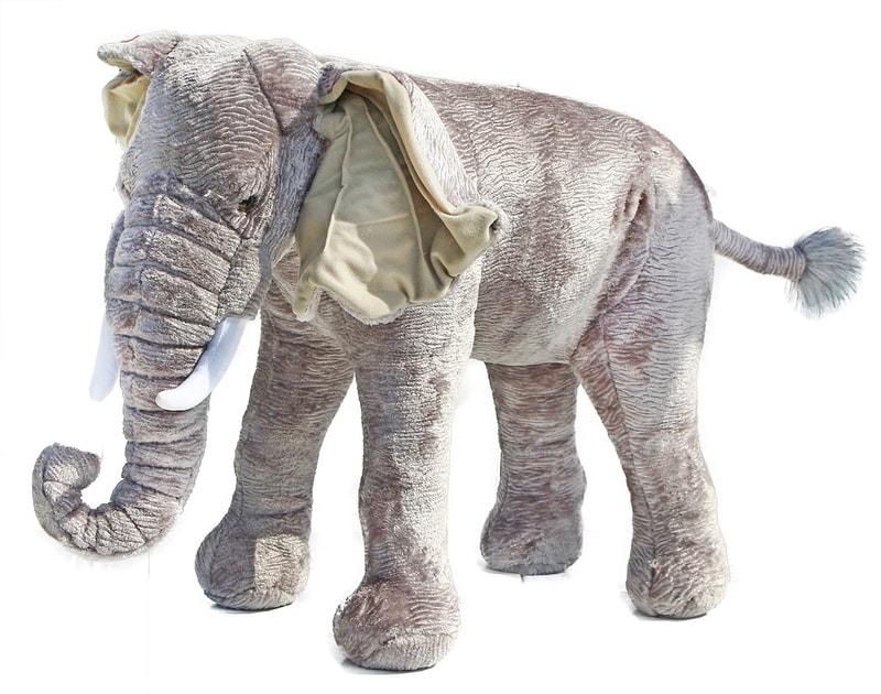 Rappa Plyšový slon 75 cm - možno sedět