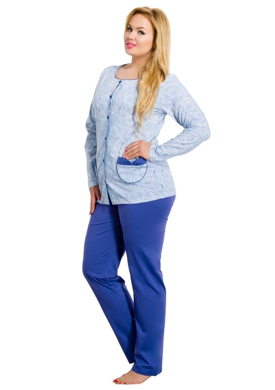 Taro Dámské pyžamo nadměrné velikosti Wera - 200/ meruňka - XXL