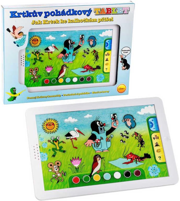 Mix hračky Dětský baby tablet naučný KRTEK dotykový na baterie pohádkový