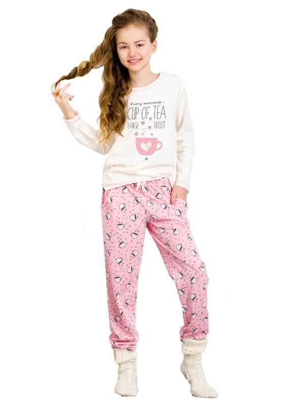Taro Dívčí pyžamo Sara - 100/ šampaň - 146