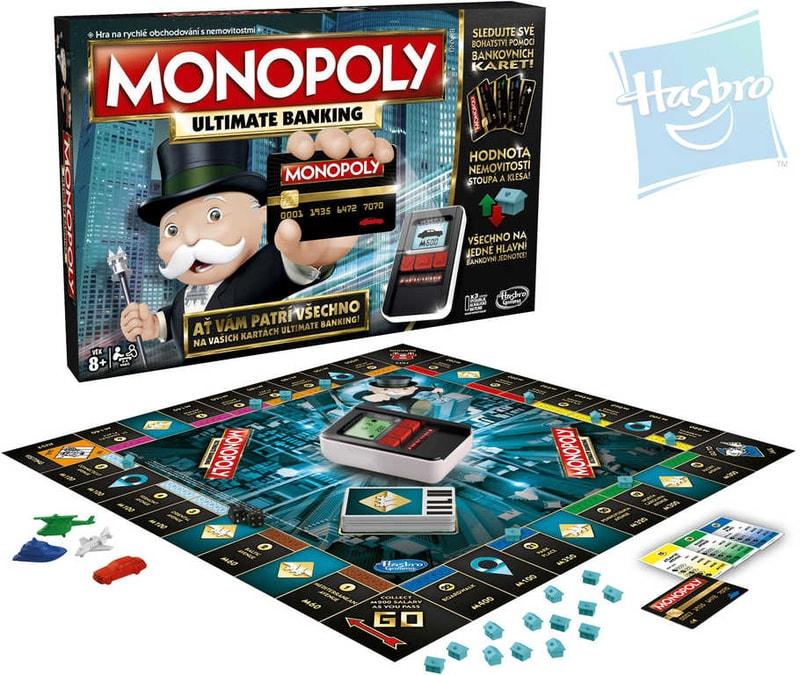 Hasbro Hra Monopoly elektronické bankovnictví s platební kartou e-banking