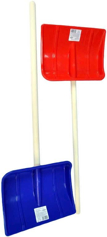 Mix hračky Lopata pro děti na sníh 87cm dřevěné hráblo dřevo/plast 2 barvy