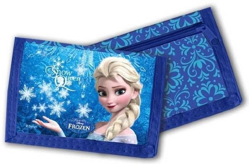 Mix hračky Peněženka dětská 13x8cm Frozen (Ledové Království) na suchý zip modrá