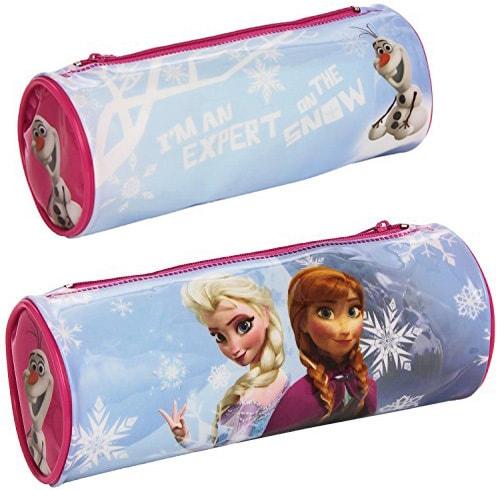 Mix hračky Penál školní oválný pro děti 21x8cm tuba na zip Frozen (Ledové Království)