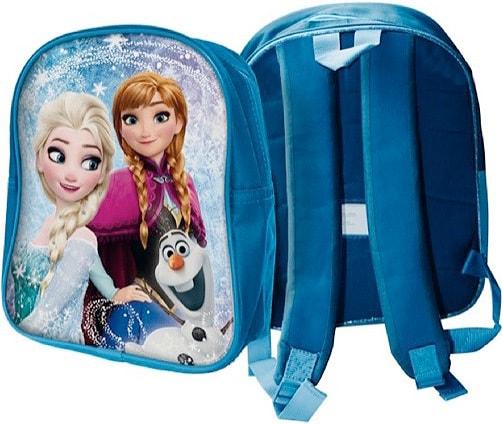 Mix hračky Batůžek dětský na zip 1 kapsa Frozen (Ledové Království) na záda modrý