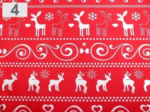 Stoklasa Balící papír vánoční 70x150 cm - 4 červená vánoční stříbrná