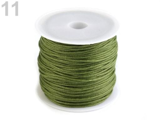 Stoklasa Šňůra bavlněná Ø0,8 mm voskovaná - 11 zelená