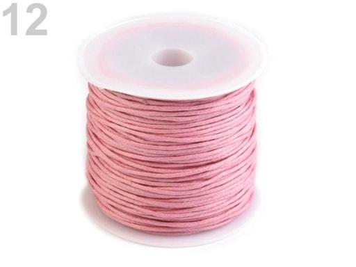 Stoklasa Šňůra bavlněná Ø0,8 mm voskovaná - 12 růžová světlá