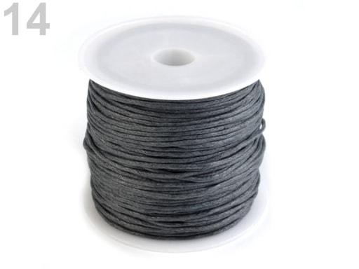 Stoklasa Šňůra bavlněná Ø0,8 mm voskovaná - 14 šedomodrá tm.