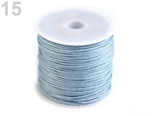 Stoklasa Šňůra bavlněná Ø0,8 mm voskovaná - 15 modrá ledová