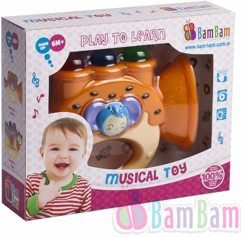 Bam Bam Trubka baby plastová Světlo Zvuk