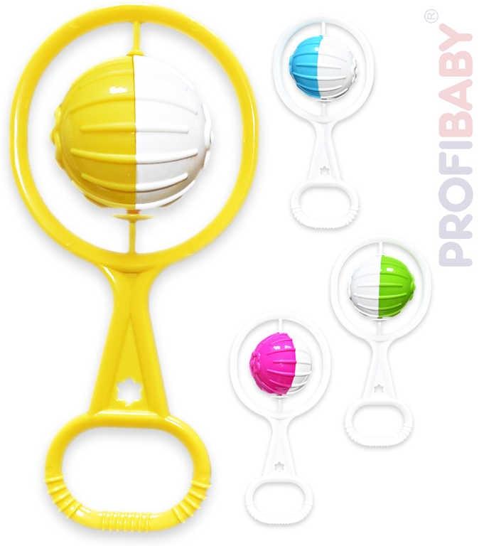 Profibaby Chrastítko koule retro plastové pro miminko 4 barvy
