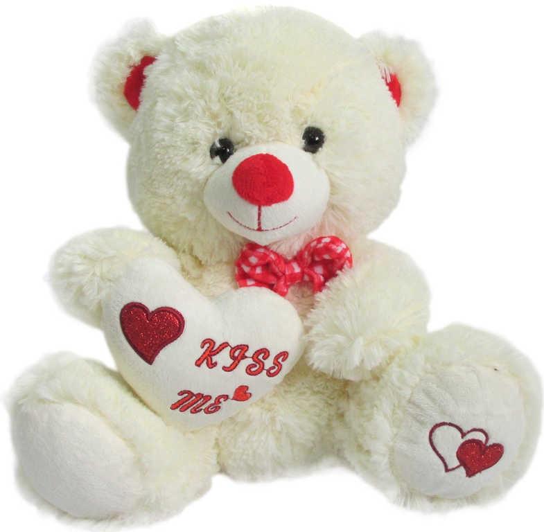 _Ostatní 1_ Medvídek Pusík 25cm se srdcem Kiss me s mašličkou
