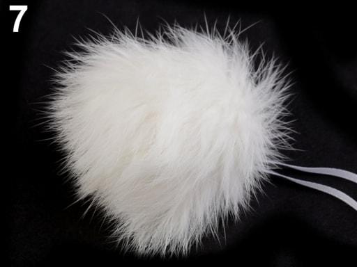 Stoklasa Bambulka z králičí kožešiny - 7 bílá mléčná
