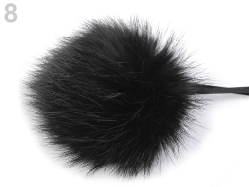 Stoklasa Bambulka z králičí kožešiny - 8 černá