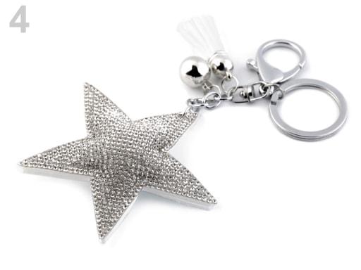 Stoklasa Přívěsek na kabelku / klíče - 4 crystal