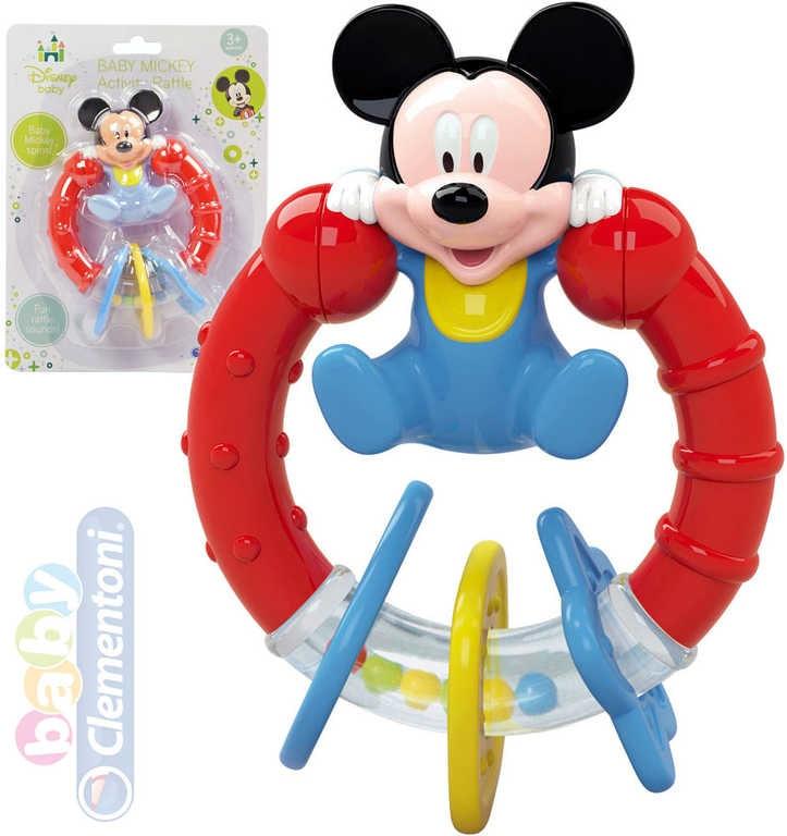 Clementoni Baby Chrastítko Disney Mickey Mouse 15cm plastové pro miminko
