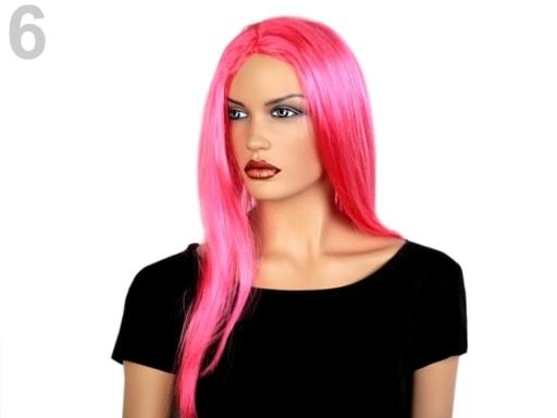 Stoklasa Paruka dlouhé vlasy - 6 růžová neon