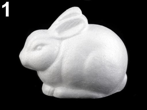 Stoklasa Zajíc, hlemýžď, sova - polystyren - 1 bílá