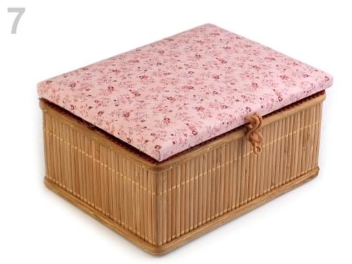 Stoklasa Kazeta na šicí potřeby - 7 růžová stř.