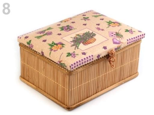 Stoklasa Kazeta na šicí potřeby - 8 fialová