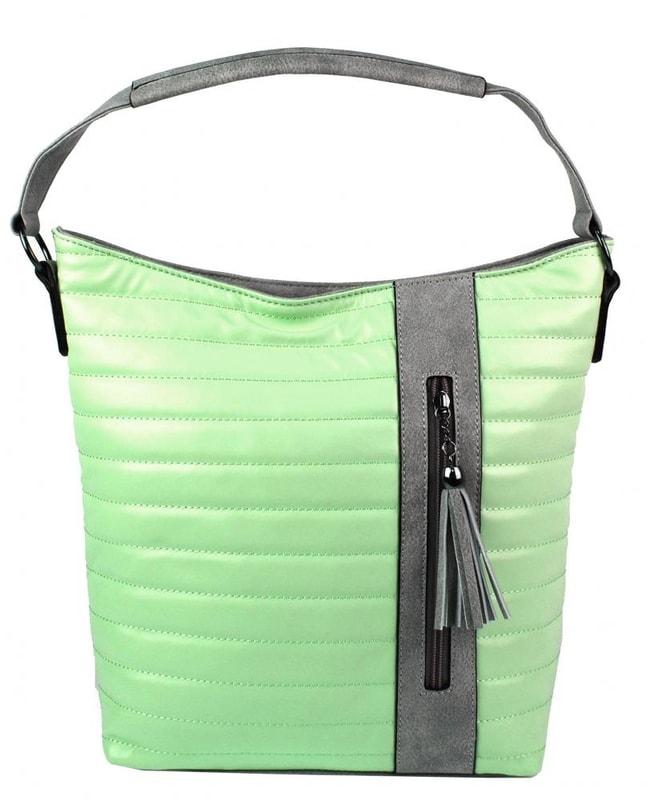 Prošívaná kabelka crossbody i přes rameno H16203 pastelová zelená ... 018fe58f890