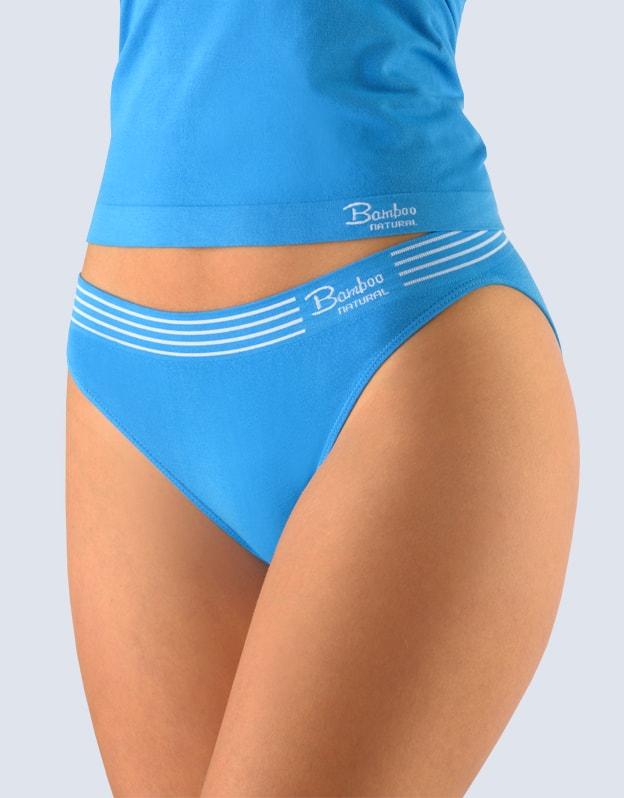 Gina Dámské kalhotky klasické s úzkým bokem, bezešvé Bamboo Natural 00030P - dunaj bílá - S/M