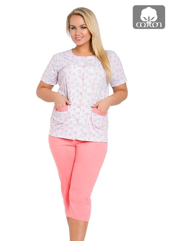 Taro Dámské pyžamo nadměrné velikosti Wera l - 310/ růžová - XXL