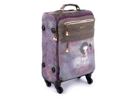 Stoklasa Kufr značky Anekke 35x50 cm - fialová křídová