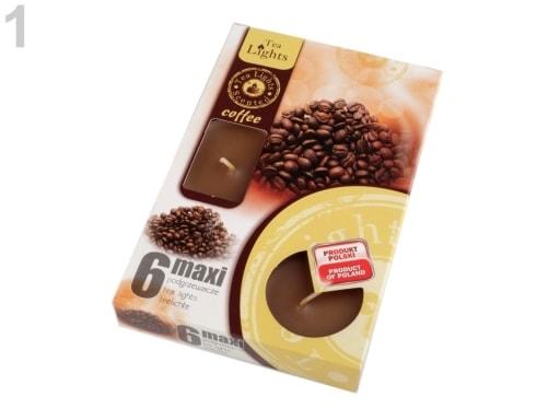 Stoklasa Čajové svíčky vonné velké Ø6 cm - 1 (Coffe) hnědá