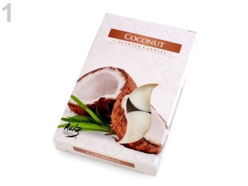 Stoklasa Čajové svíčky vonné Ø4 cm - 1 (Coconut) krémová nejsvět.