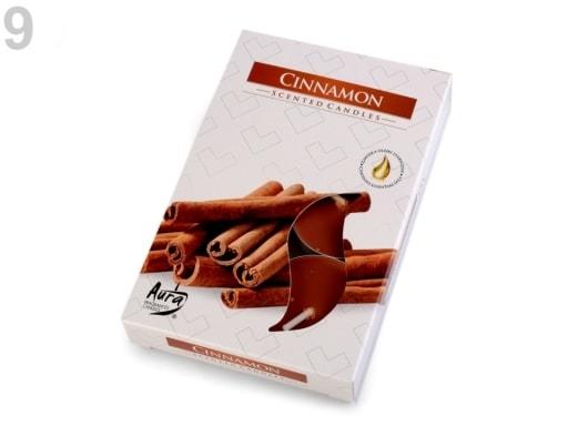 Stoklasa Čajové svíčky vonné Ø4 cm - 9 (Cinnamon) hnědá