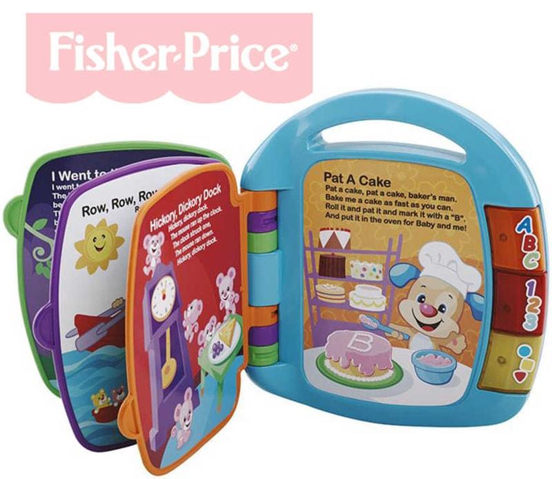 Fisher Price Učíme se říkanky baby mluvící plastová knížečka světlo zvuk
