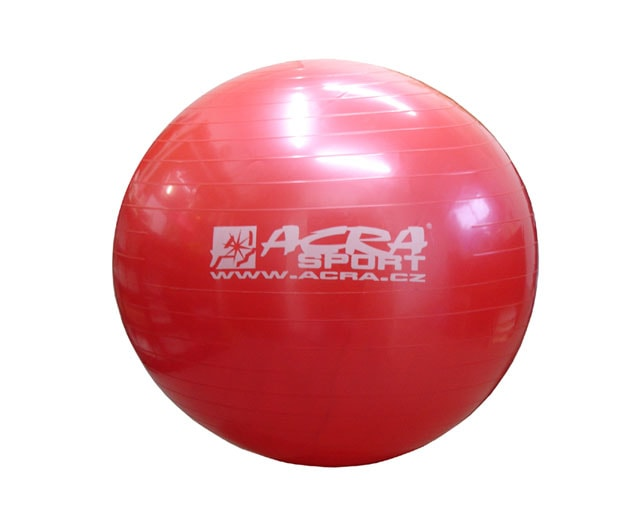 Acra Míč gymnastický 750mm červený