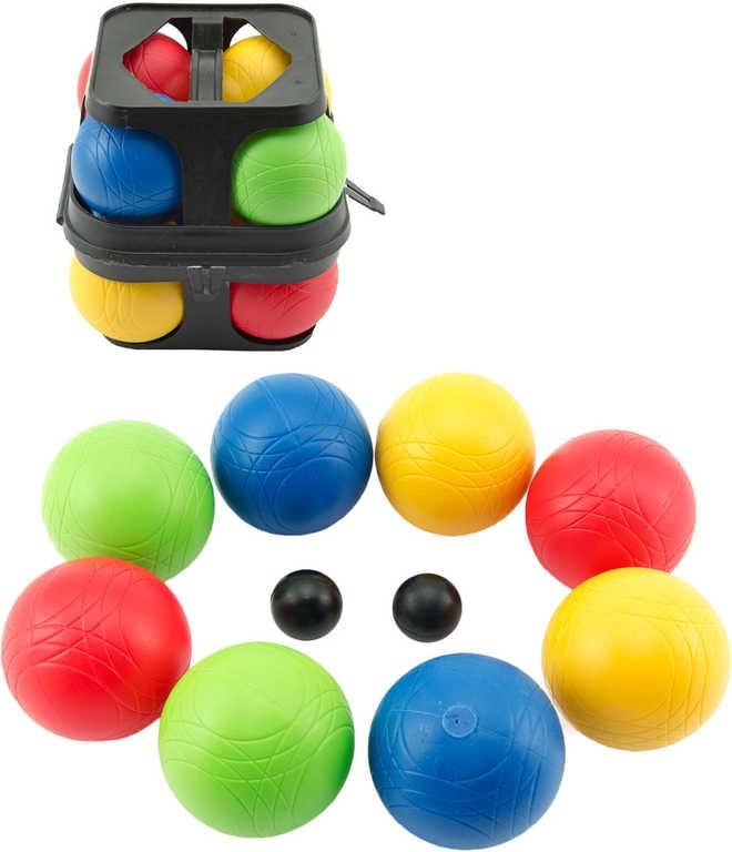 Mix hračky Petanque koule barevné set 8ks v plastovém kufříku