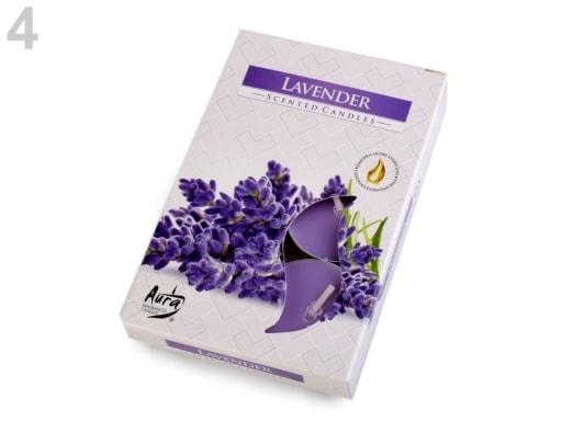 Stoklasa Čajové svíčky vonné Ø4 cm - 4 (Lavender) fialová levandule