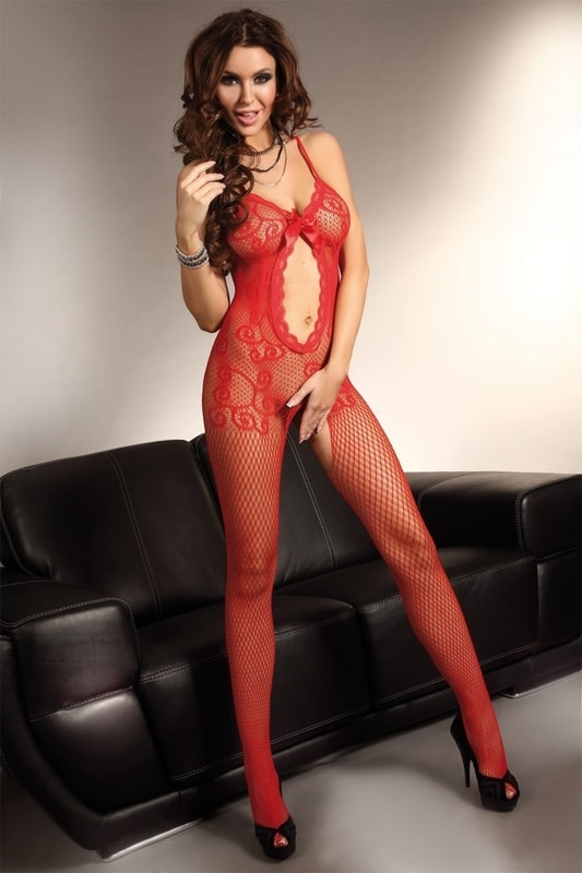 Sultry brunette model Roxy Raye posing in mesh bodystocking and glasses  267841