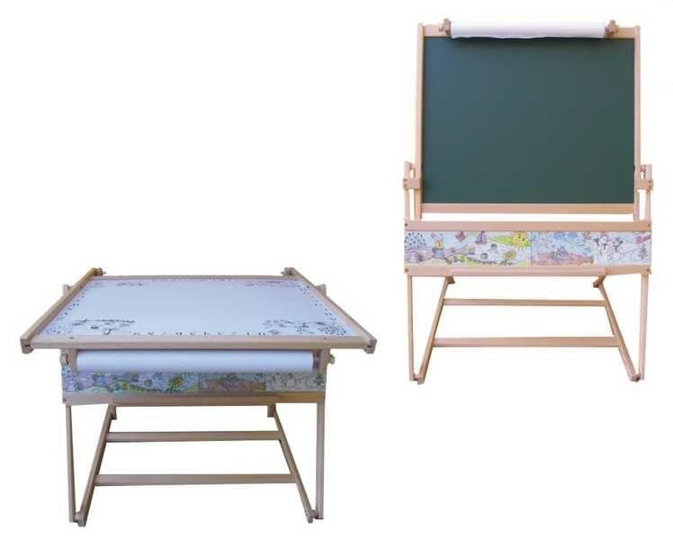 Mix hračky Dětská školní tabule FILIP I. na křídu fix s papírem + stolek