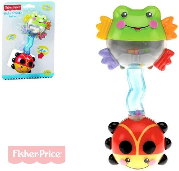 Fisher Price Chrastítko činka Žabička a Beruška BABY
