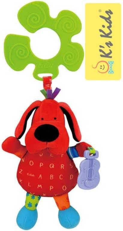 K´s Kids Pes Patrick S úchytem Na kočárek Textilní pejsek BABY